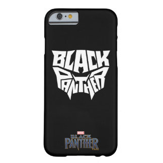 Black Panther | Panther Head Typography Graphic Barely There iPhone 6 Case