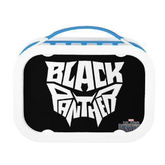Black Panther | Panther Head Typography Graphic Lunch Box