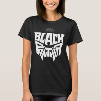 Black Panther | Panther Head Typography Graphic T-Shirt