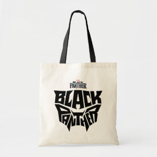 Black Panther | Panther Head Typography Graphic Tote Bag
