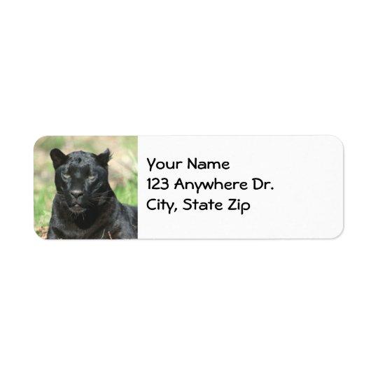 Black Panther Return Address Label