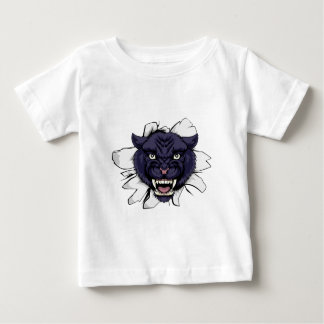 Black Panther Sports Mascot Baby T-Shirt