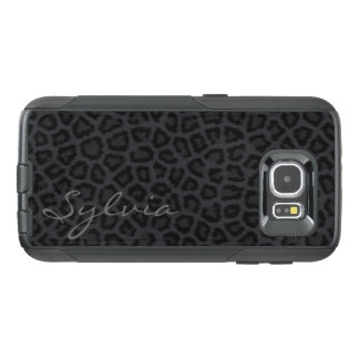 Black Panther Spots with Name OtterBox Samsung Galaxy S6 Case