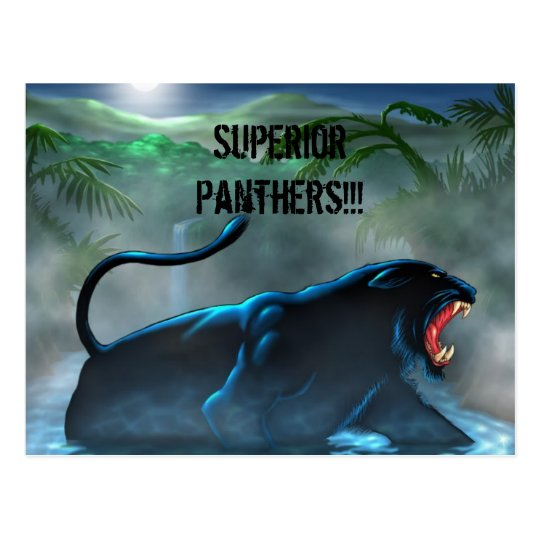 black-panther, Superior Panthers!!! Postcard