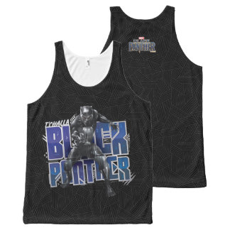 Black Panther   T'Challa - Black Panther Graphic All-Over Print Tank Top