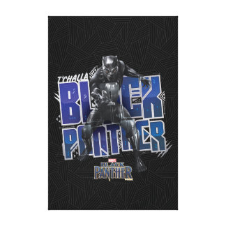 Black Panther | T'Challa - Black Panther Graphic Canvas Print
