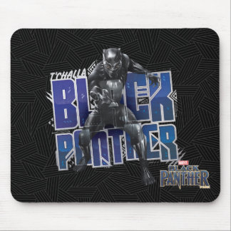 Black Panther | T'Challa - Black Panther Graphic Mouse Mat