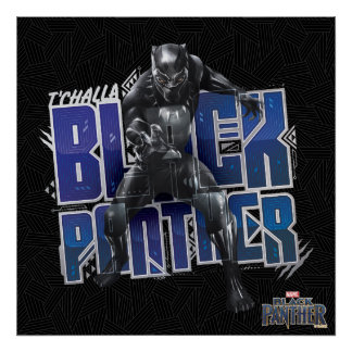 Black Panther | T'Challa - Black Panther Graphic Poster