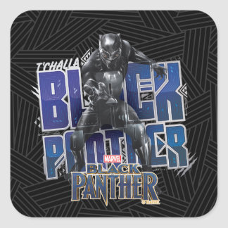 Black Panther | T'Challa - Black Panther Graphic Square Sticker