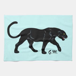 black panther tea towel