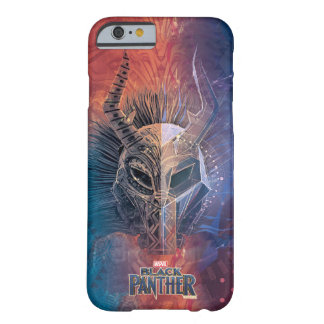 Black Panther | Tribal Mask Overlaid Art Barely There iPhone 6 Case