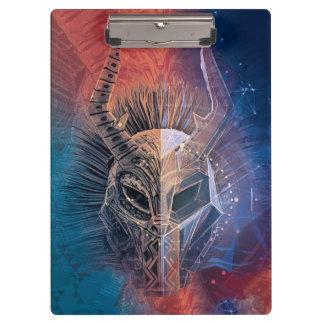 Black Panther | Tribal Mask Overlaid Art Clipboard