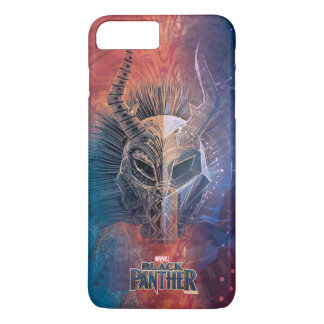 Black Panther | Tribal Mask Overlaid Art iPhone 8 Plus/7 Plus Case