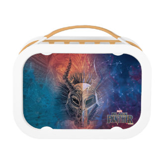 Black Panther | Tribal Mask Overlaid Art Lunch Box