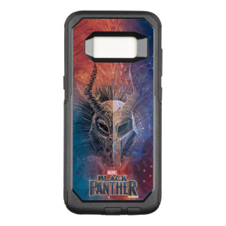 Black Panther | Tribal Mask Overlaid Art OtterBox Commuter Samsung Galaxy S8 Case