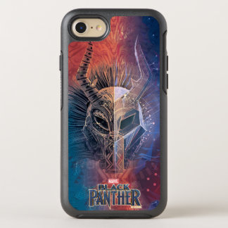 Black Panther | Tribal Mask Overlaid Art OtterBox Symmetry iPhone 8/7 Case