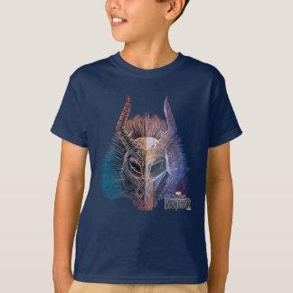 Black Panther | Tribal Mask Overlaid Art T-Shirt