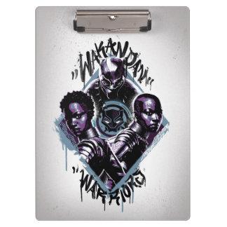 Black Panther | Wakandan Warriors Graffiti Clipboard