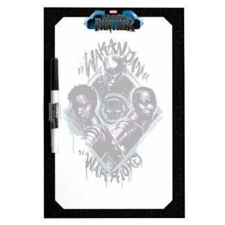 Black Panther | Wakandan Warriors Graffiti Dry Erase Board
