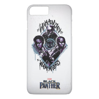 Black Panther | Wakandan Warriors Graffiti iPhone 8 Plus/7 Plus Case