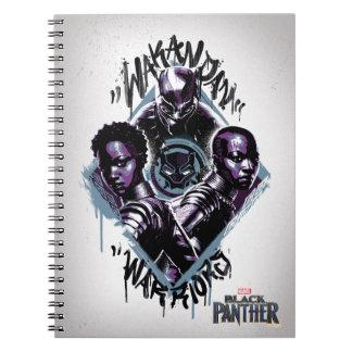 Black Panther | Wakandan Warriors Graffiti Notebook