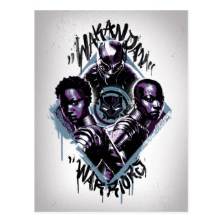 Black Panther | Wakandan Warriors Graffiti Postcard