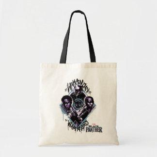 Black Panther   Wakandan Warriors Graffiti Tote Bag