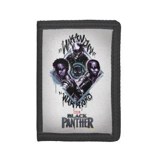 Black Panther | Wakandan Warriors Graffiti Trifold Wallets