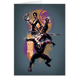 Black Panther | Wakandan Warriors Painted Graphic Card