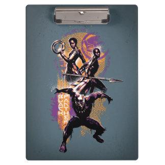 Black Panther | Wakandan Warriors Painted Graphic Clipboard
