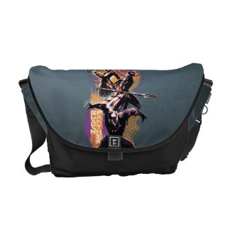 Black Panther | Wakandan Warriors Painted Graphic Courier Bag