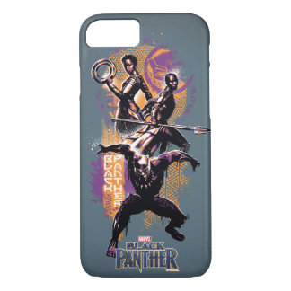 Black Panther | Wakandan Warriors Painted Graphic iPhone 8/7 Case