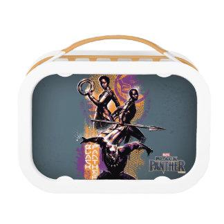 Black Panther | Wakandan Warriors Painted Graphic Lunch Box