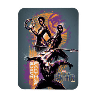 Black Panther | Wakandan Warriors Painted Graphic Magnet
