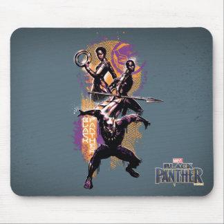 Black Panther | Wakandan Warriors Painted Graphic Mouse Mat