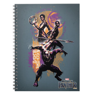 Black Panther | Wakandan Warriors Painted Graphic Notebook