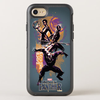 Black Panther | Wakandan Warriors Painted Graphic OtterBox Symmetry iPhone 8/7 Case
