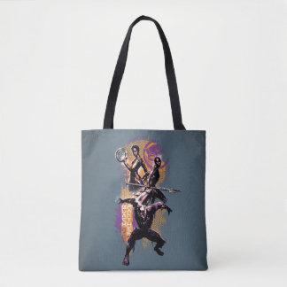 Black Panther   Wakandan Warriors Painted Graphic Tote Bag