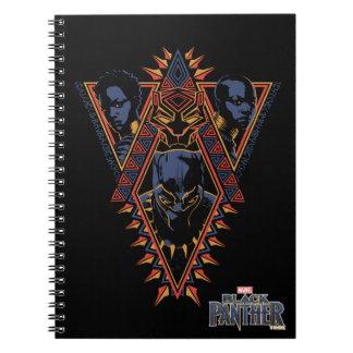 Black Panther | Wakandan Warriors Tribal Panel Notebook