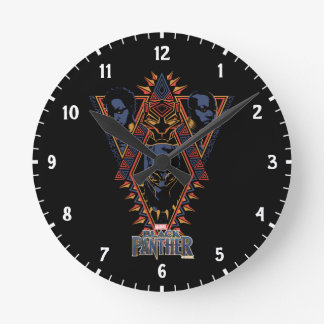 Black Panther | Wakandan Warriors Tribal Panel Round Clock