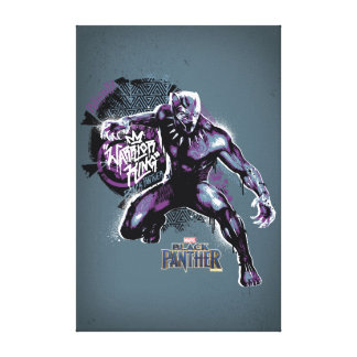 Black Panther | Warrior King Painted Graphic Canvas Print