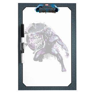Black Panther | Warrior King Painted Graphic Dry Erase Board