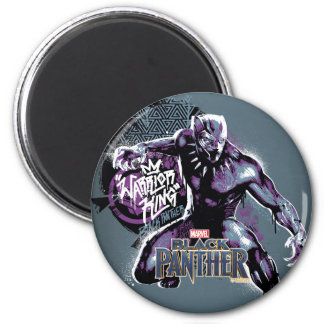 Black Panther | Warrior King Painted Graphic Magnet