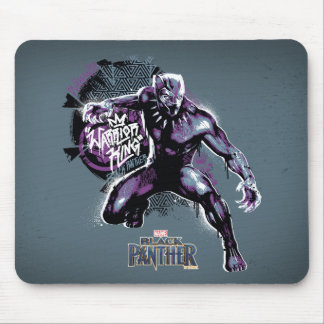 Black Panther | Warrior King Painted Graphic Mouse Mat