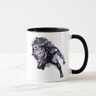 Black Panther | Warrior King Painted Graphic Mug