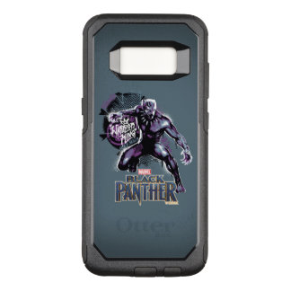 Black Panther   Warrior King Painted Graphic OtterBox Commuter Samsung Galaxy S8 Case