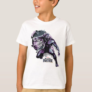 Black Panther | Warrior King Painted Graphic T-Shirt