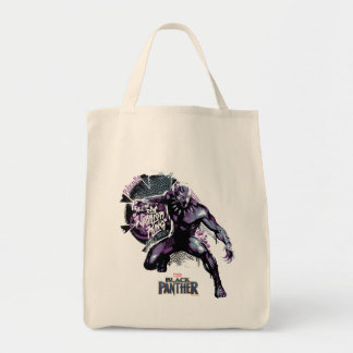 Black Panther   Warrior King Painted Graphic Tote Bag