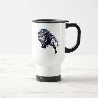 Black Panther   Warrior King Painted Graphic Travel Mug