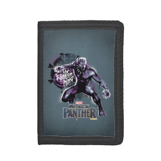 Black Panther | Warrior King Painted Graphic Tri-fold Wallet
